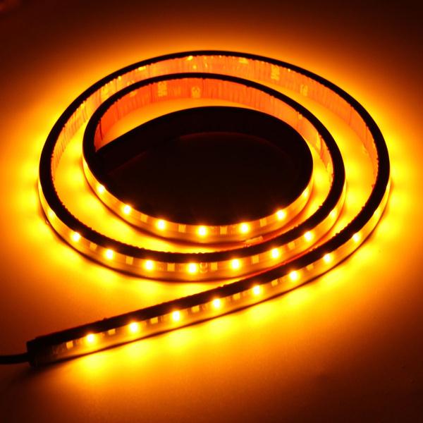 Wish | White Amber 48inch Switchback 72 SMD LED Strip Bar Daytime Running  Turn Signal Light SIde Light Strip