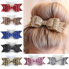 Hot Fashion Women Girls Sequin Big Bowknot Barrette Hairpin Hair Clips Hair Bow