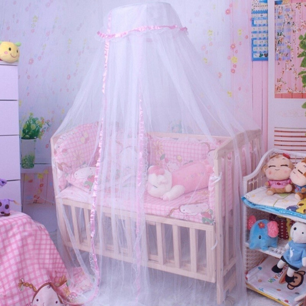 Wish | Baby Crib Mosquito Net Tent Infant Bed Canopy Crib Netting Stand Kids Baby Bed Accessories : mosquito net canopy for cribs - memphite.com