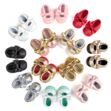 Cute Soft Soled Kids Baby Boys Girl's Toddler Moccasin Infant Tassel Crib Shoes
