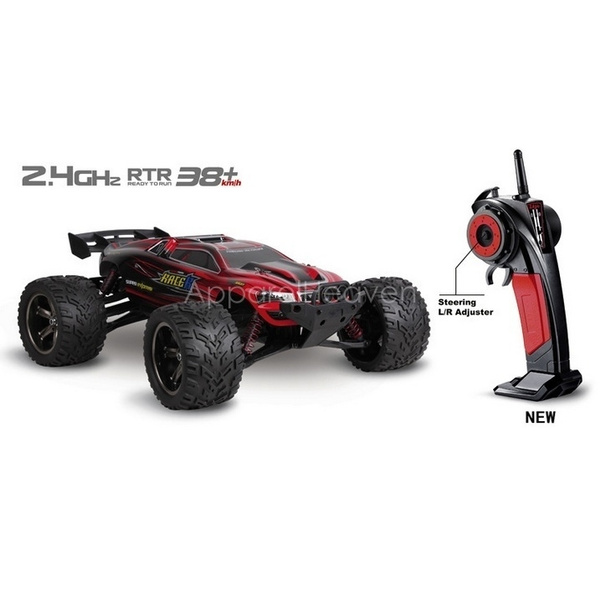 Good Children's Toy Big RC Monster Truck 1/12 2 4GHz 4WD Brushed High Speed  Racing Car RTR Nice Gift