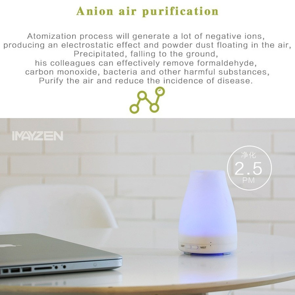 release date 37456 58c9c Geek   IMAYZEN 120ML LED Light 7 Color Change Dry Protect Ultrasonic Essential  Oil Aroma Diffuser Air Humidifier Mist Maker Home Office