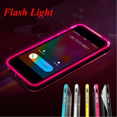 New LED Flash Ultra Thin Back Cover Call Lighting TPU Case for IPhone 5S 6 / 6S Plus 4.7