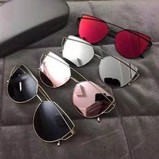 Fashion Women's Double Metal Nose Bridge Sunglasses Outdoor Driving Eyewear