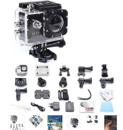 Picture of Sj4000 Style A3 Action Camera 900mah Battery With 120 Degree Wide-angle Lens Waterproof Camara Black + Ultra Hd 4k Video Sport Dv 170 Degree Wide Angle Sports Camera 2-inch Screen 1080p 30fps Action Camera
