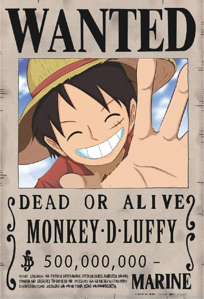 Luffy one piece wanted images - One piece luffy wanted ...