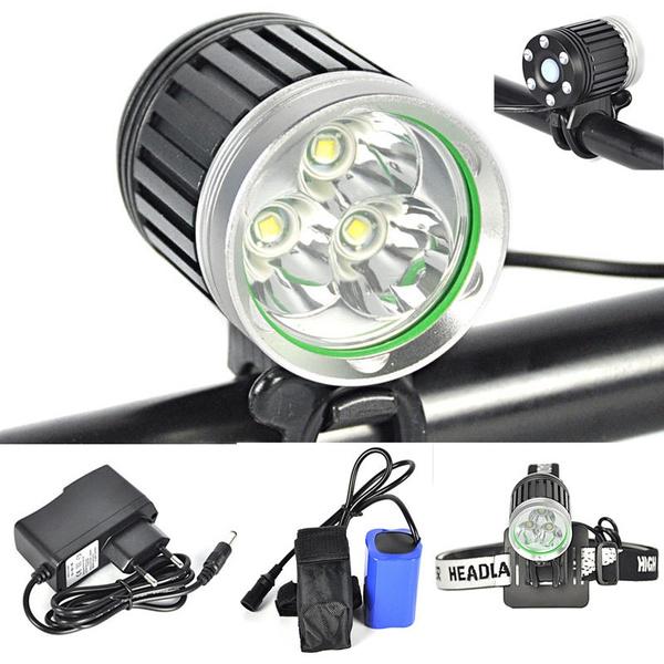 6000lm Batterie Lampe Led Cyclisme Headlamp xml Lumière Phare Vélo T6 3 Frontale D2HIWYE9
