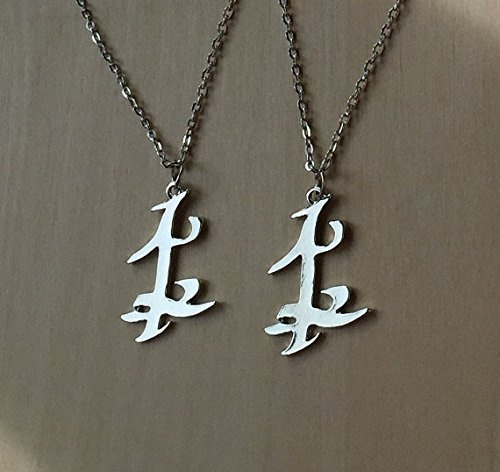 da447ccc36367 Jewelry tycoon® Set of TWO Parabatai Rune Pendant Necklaces Shadowhunters