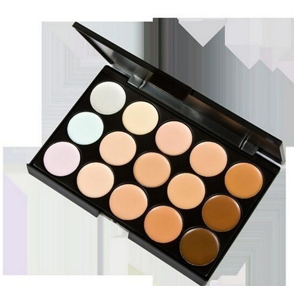 Picture of 15 Colors Concealer Eyeshadow Contour Sponge Face Makeup Kit Set Size 15.5cm By 10.5cm By 1.3cm Color Multicolor