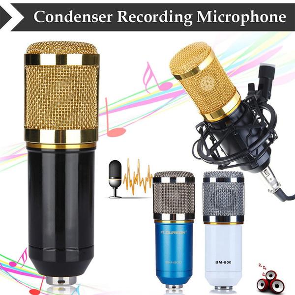 Picture of Bm800 Condenser Microphone Pro Audio Studio Vocal Recording Mic For Radio Ktv Karaoke