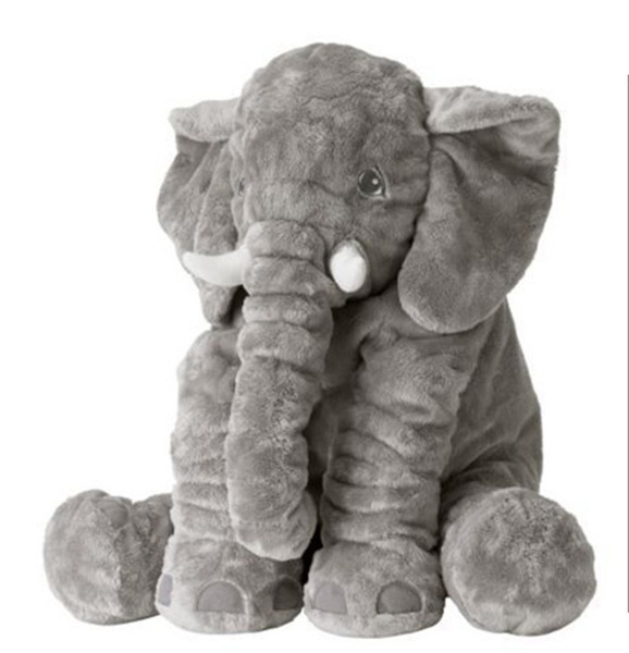 Fashion Baby Animal Elephant Style Placate Doll Stuffed Plush Pillow Kids Room Bed Decoration Toys