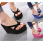 Picture of Women Casual Fashion Wedges Flip Flops Outdoor Slippers For Summer Platform Shoes