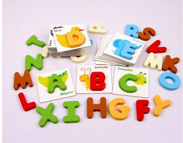 Alphabet Learning Toys : Wish wooden early education baby preschool english learning abc