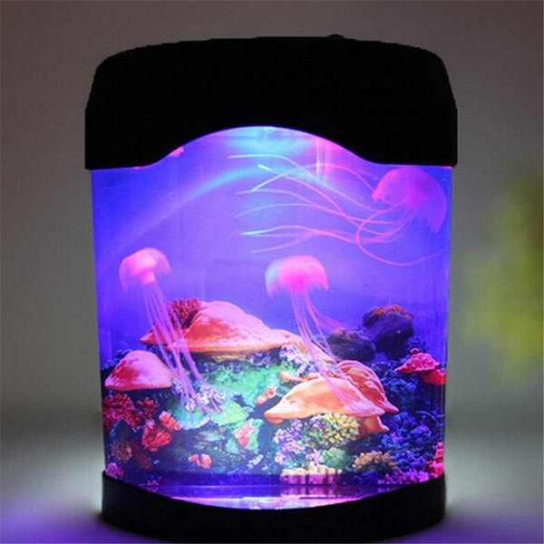 Wish | 1Set Time Limited No 0 5w Lamparas Lava Lamp Home Decor Colorful Led  Jellyfish Tank Sea World Swimming Mood Lamp Nightlight
