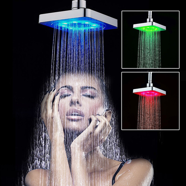 Picture of Multicolor 6 Automatic Led Light Shower Head Bath Sprinkler Water Tap For Bathroom 7 Colors / Rgb Colorsoptional