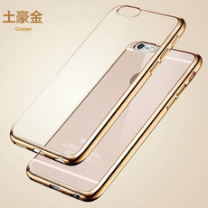 Luxury Ultra Thin Clear Crystal Rubber Plating Electroplating TPU Soft Mobile Phone Case For iPhone 5s 6 6sPlus