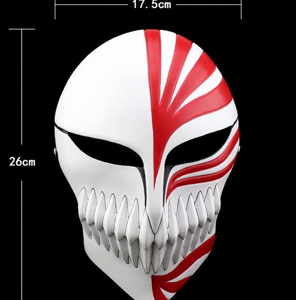 Bleach Ichigo Kurosaki Cosplay Full Hollow Halloween Resin Mask High Quality