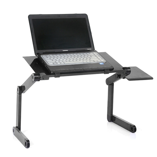 Wish 360 Degree Adjule Foldable Laptop Notebook Desk Table Stand Tray With Fan