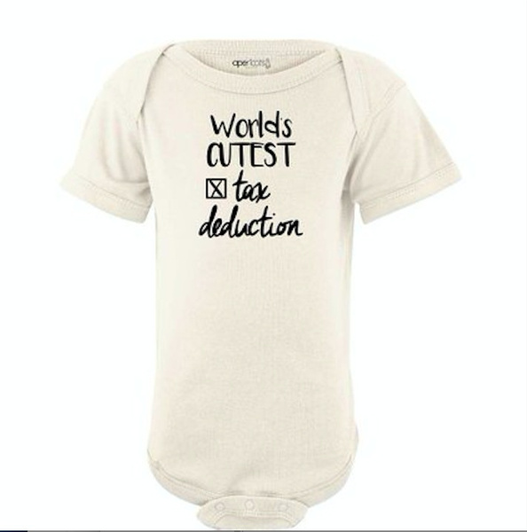 e31ebfa63719a Apericots World s Cutest Tax Deduction Funny Cute Short Sleeve Baby Bodysuit