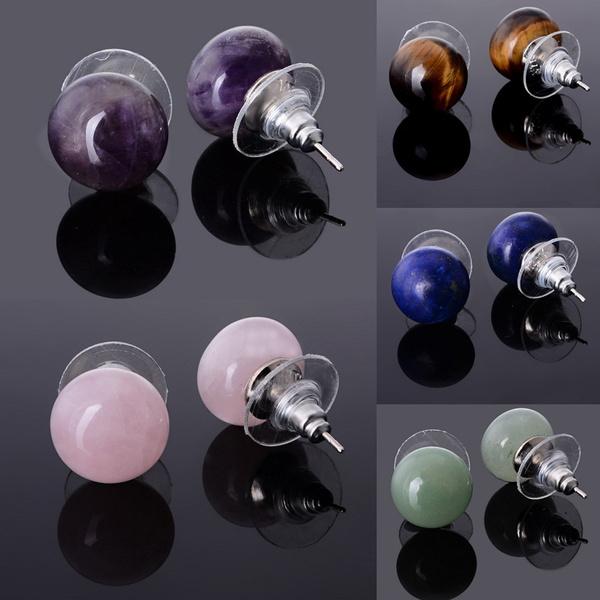Stud, quartz, Crystal Earrings, amethystearring