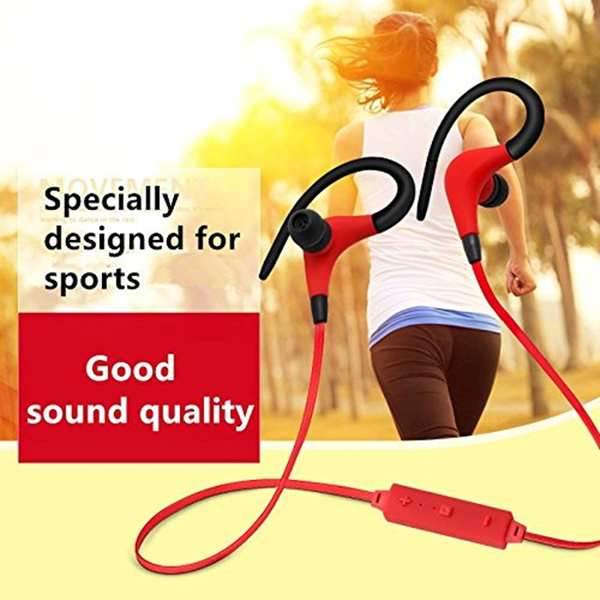 Bluetooth Headset Universal Wireless Bluetooth Stereo Sports Headphone With Microphone Earbuds Sweatproof For iPhone Samsung iPad