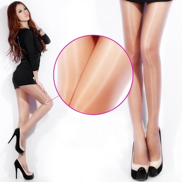 Women Sexy Shiny Stockings Pantyhose Tights Breathable Sheer Hosiery High Socks One Size