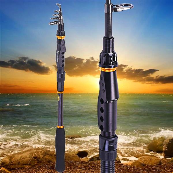 Spinning Telescopic Fishing Rod Graphite Carbon Fiber Travel Portable Fishing