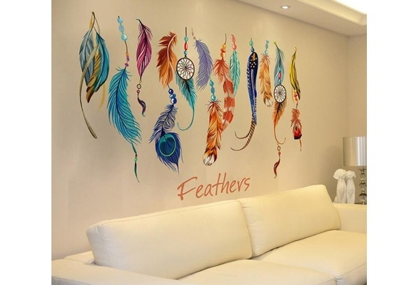 Picture of Fashion Classic Creative Dream Catcher Feather Wall Sticker Art Decal Mural Wedp