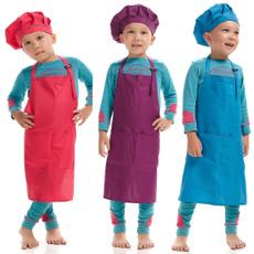 Cute Children Kids Plain Apron Kitchen Cooking Baking Cooking Craft Art Bib