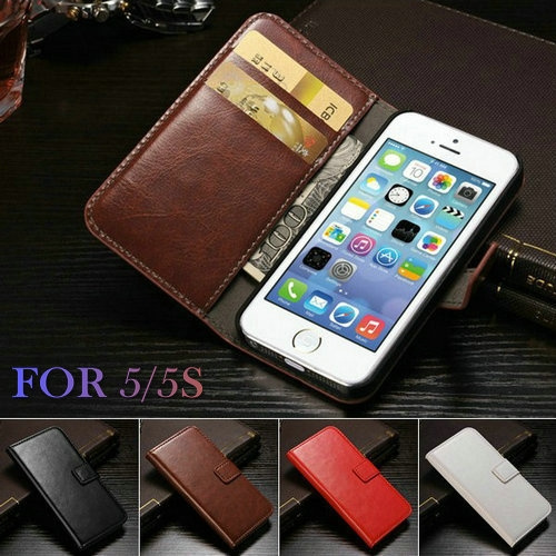 new arrival 306ce bbcec Case for IPHONE SE Vintage Wallet PU Leather Phone Cases for IPhone SE Case  IPhone SE 5SE Luxury Cover for IPhone SE Case