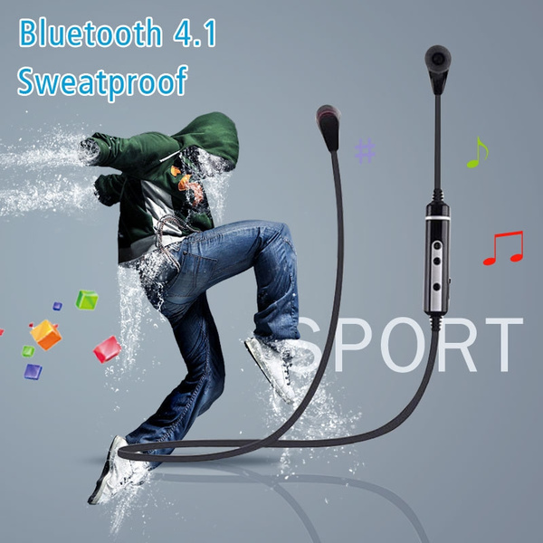 Picture of Bluetooth Sport 4.1 Wireless Headphones Headset Sweatproof For Call Microphone