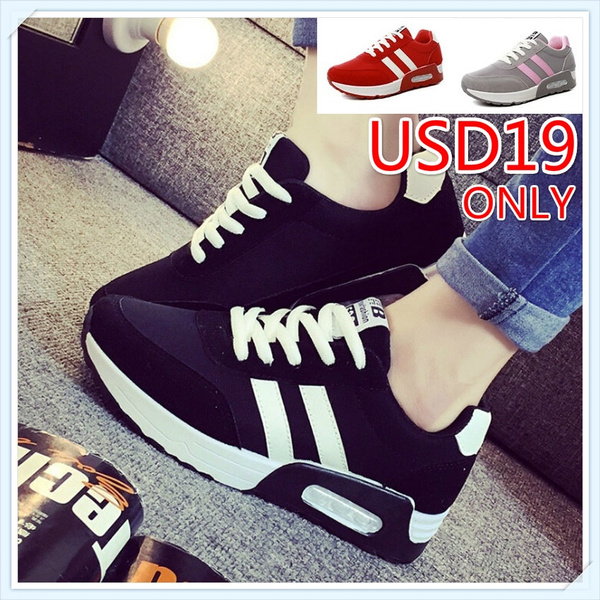 Picture of Women Fashion Breathable Running Shoes Girl Lace Up Hiking Outdoor Wogging Working Sneakers