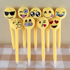 Jungen Fashion and Cute Expression Emoji Type Ballpoint Pen Office and School Students Pen for Christmas Gift Kids Present