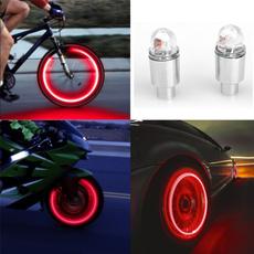 1 Pair Fashion LED Cycling Bicycle Neon Car Wheel Tire Valve Caps Wheel Lights DOOR