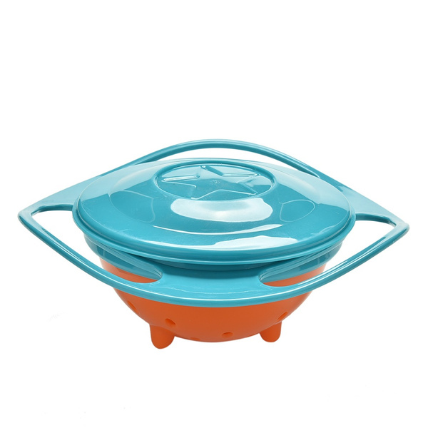 Baby Universal 360 Degree Rotate Spill-Proof Gyro Bowl Dishes + Lid