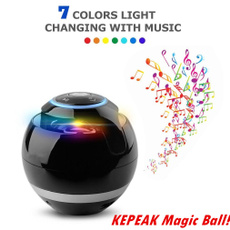 New Bluetooth Speaker Seven Colors LED lights Wireless Portable Subwoofer with Mic FM