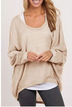 Women Ladies New Oversized Loose Long Sleeve Shirt Blouse Baggy irregular Tops Jumper