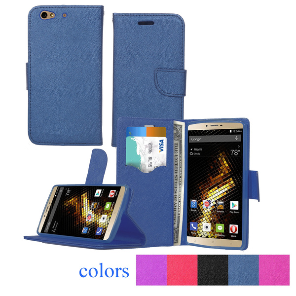 newest collection 2ade0 321cc Genuine PU Leather Cellphone Case for BLU Vivo 5 Luxury Business Style  Silicone and Leather Mobile Phone Case