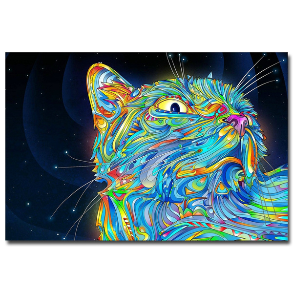 Psychedelic Trippy Abstract Art Silk Poster Print 13x20 24x36 inch