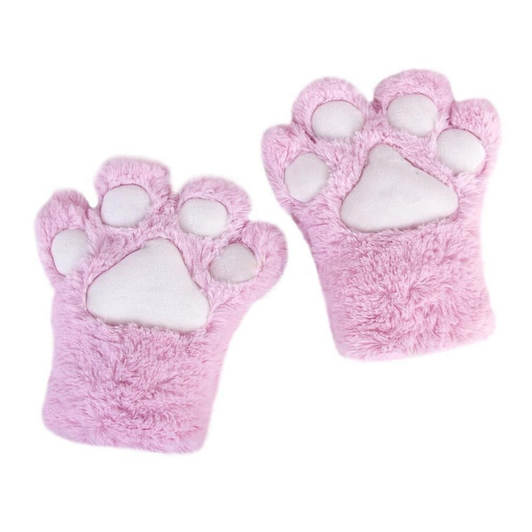Wish Anime Cosplay Party Costume Cute Cat Bear Plush Paw Claw Gloves