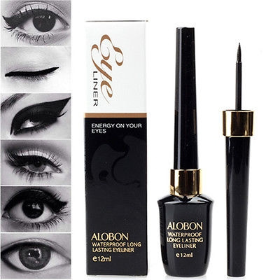 Liquid Eyeliner Waterproof Eye Liner Pencil Pen Black Make Up Comestics Set