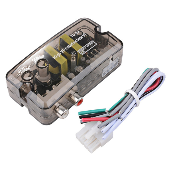 2pcs High to Low Line Out 2 RCA Socket Car Stereo Audio Speaker Level Speaker To Line Level Converter Schematic on