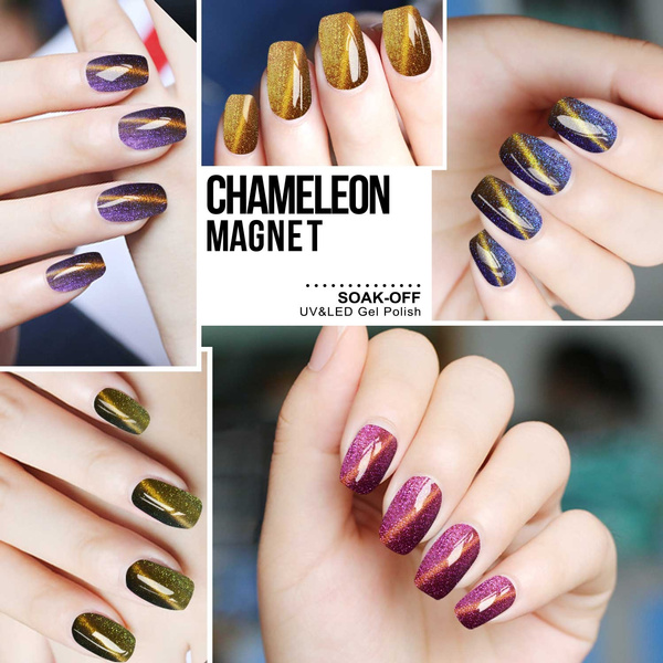 Wish | Azure Beauty Gel Nail Polish Chameleon Cat Eye Magnetic UV ...