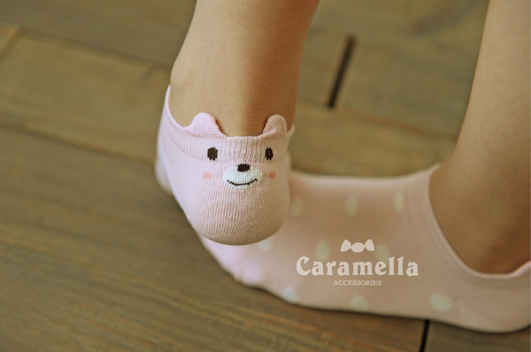 Fashion Women Cotton Antiskid Invisible Liner Low Cut Sweets Socks One Size