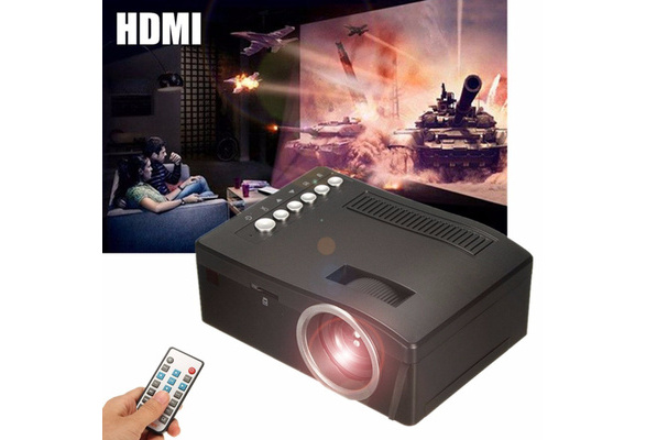 Full HD Home Theater LED Mini Multimedia Projector Cinema USB TV HDMI TF 1080P Video Player