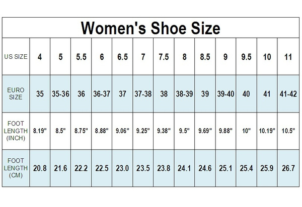 For women, the European shoe size 38 coverts to a U.S. size 7 1/2. In men's shoes, size 38 equals an American size 6 shoe. A size 38 shoe is designed to fit a foot 9 5/8 inches long.