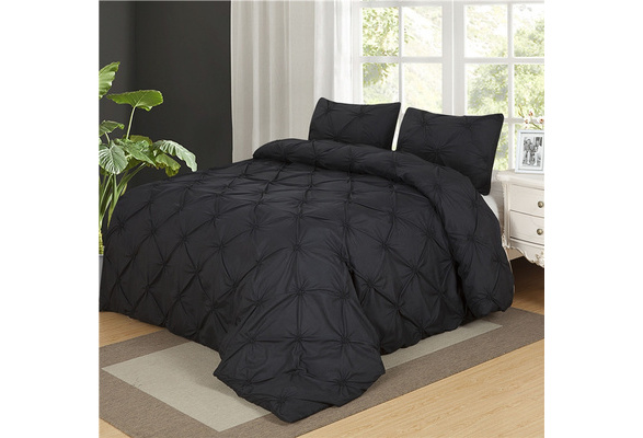 ANN Home decor Pinch Pleat bedding set duvet cover bedding sheet pillowcase Twin queen king size