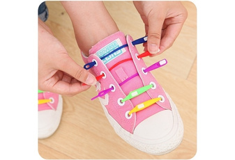 8pcs/lot Fashion Valentines Shoeslaces Women Elastic Silicone Shoe Laces No Tie Shoelace All Sneakers Fit Strap