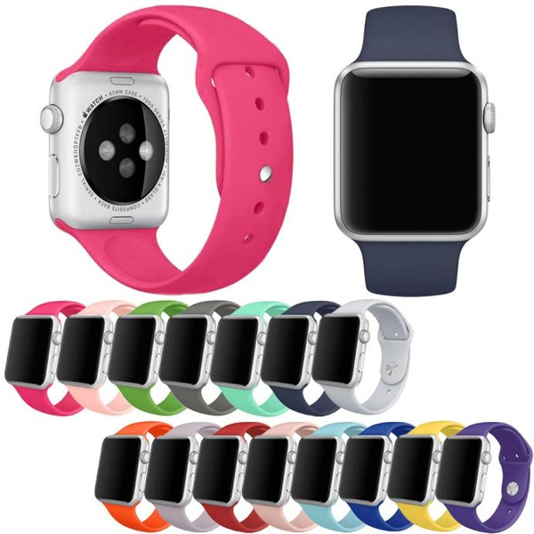 Picture of New Arrival Short Releases Sports Silicone Bracelet Strap Band For Iphone Watch 42mm