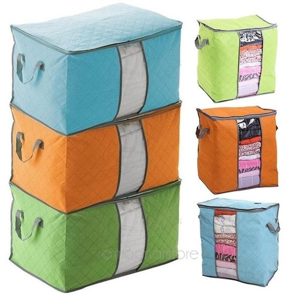 Box, clothesstoragebagszipper, transparentwindowstoragebag, Fashion